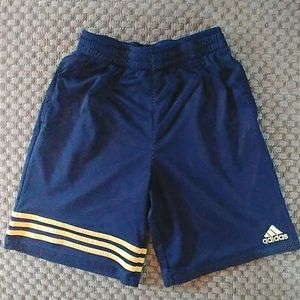 Adidas Shorts Boys Large Navy/ Yellow